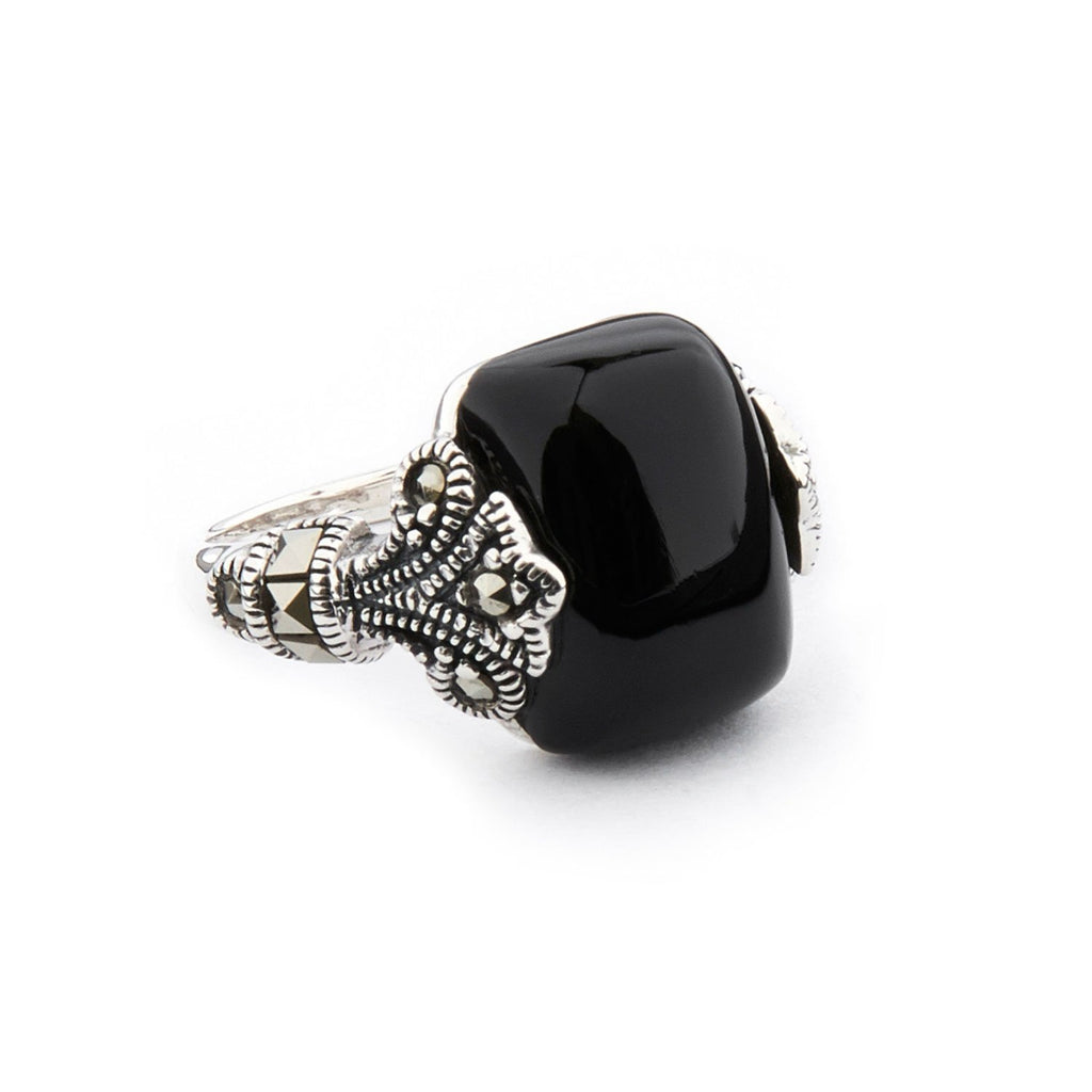 Wellington_&_North_Art_Deco_Jewellery_Maisie_Black_Onyx_Marcasite_925_Sterling_Silver_Ring_Side_View