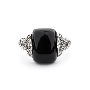 Wellington_&_North_Art_Deco_Jewellery_Maisie_Black_Onyx_Marcasite_925_Sterling_Silver_Ring_Front_View