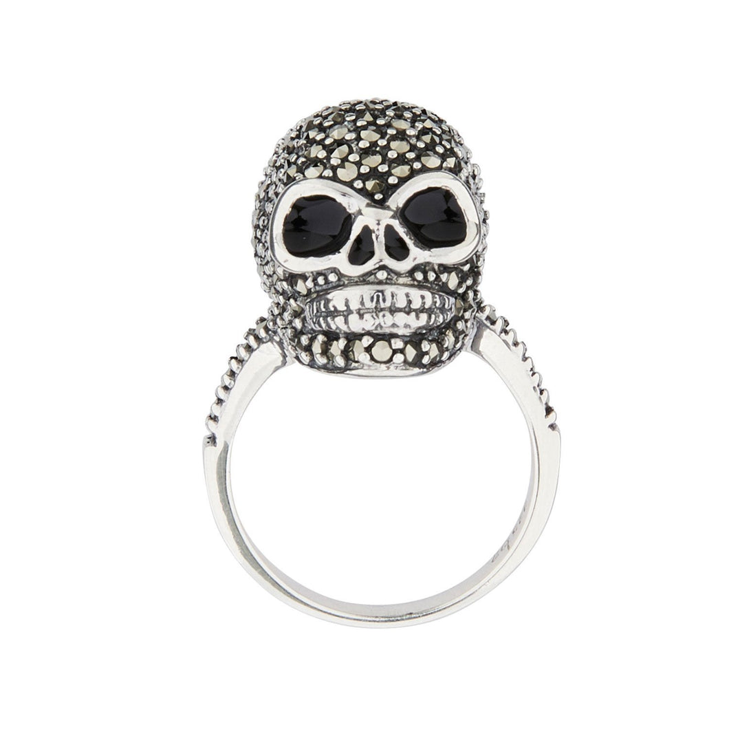 Wellington_&_North_Jewellery_Jett_Marcasite_Black_Enamel_925_Sterling_Silver_Skull_Ring