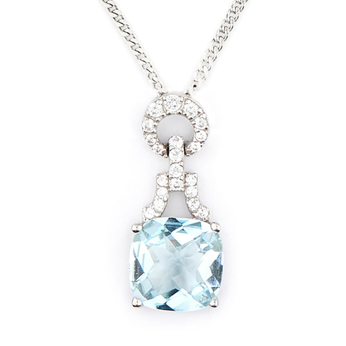 Wellington_&_North_Art_Deco_Jewellery_Rosalind_Cushion_Cut_Blue_Topaz_Cubic_Zirconia_925_Sterling_Silver_Pendant