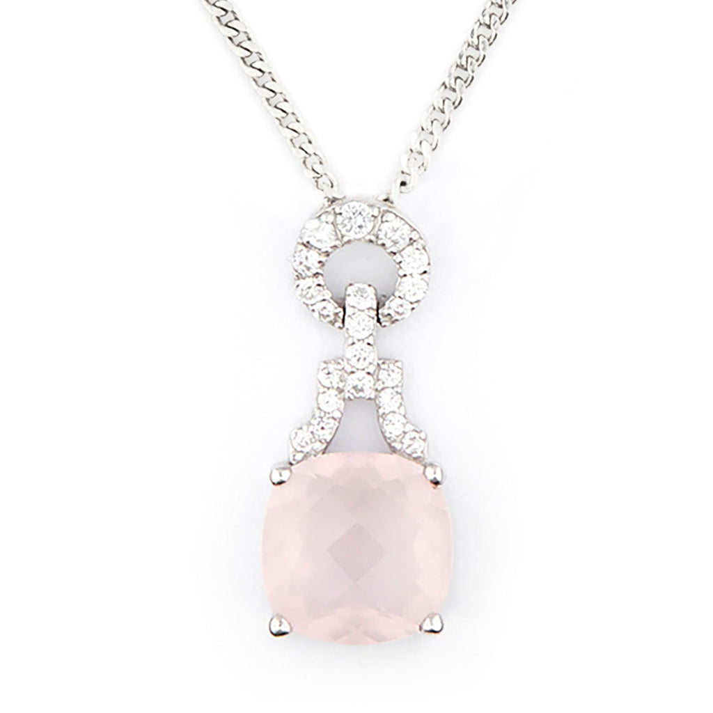 Wellington_&_North_Art_Deco_Jewellery_Rosalind_Cushion_Cut_Rose_Quartz_Cubic_Zirconia_925_Sterling_Silver_Pendant