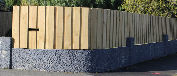 rough-sawn board and batten fence