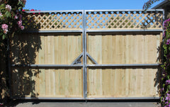 gates on galvanized steel frame