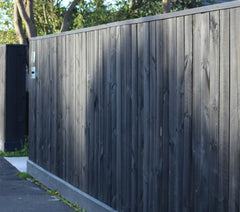 fence with driveway returns, cap and kickboard