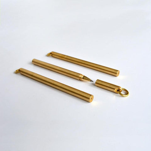 Milled Brass Refill Pen