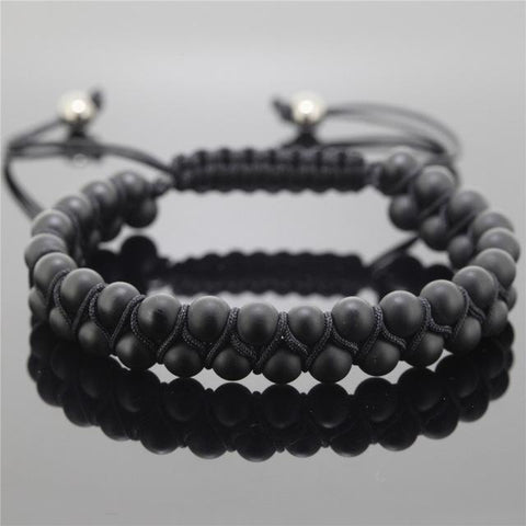 Double Row Sediment Beads Bracelet