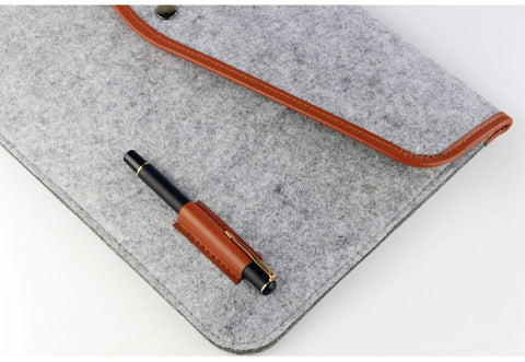 Felt Laptop/Tablet Sleeve with Leather Edges