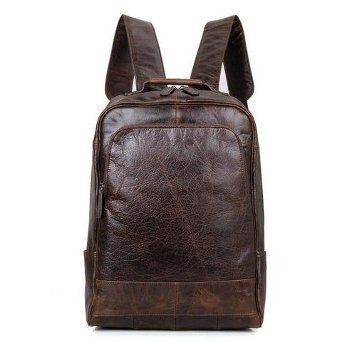 Genuine Vintage Style Leather Travel Backpack