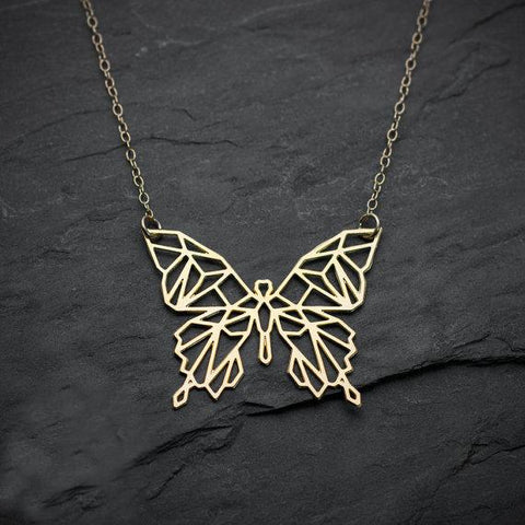 Geometric Butterfly Necklace