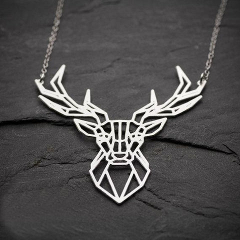 Geometric Deer Necklace