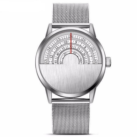 Half Face Stainless Steel Watch