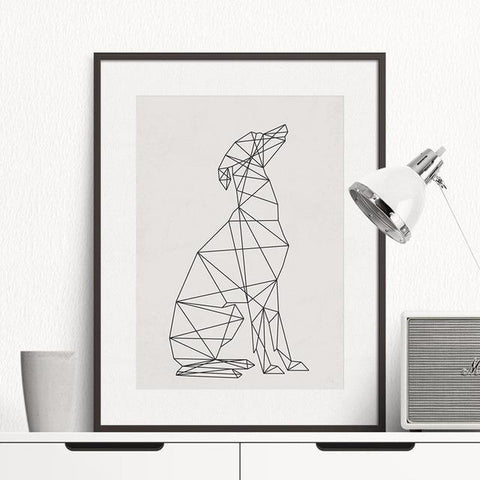 Minimal Greyhound Wall Art