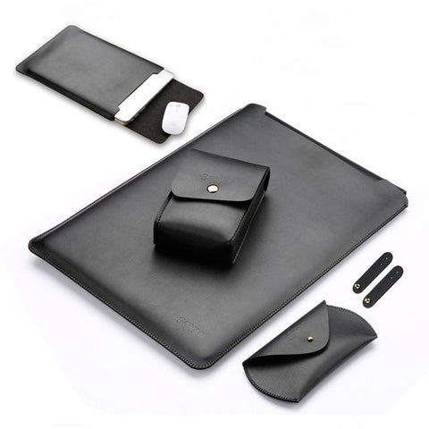 Pu Leather Laptop Case Set