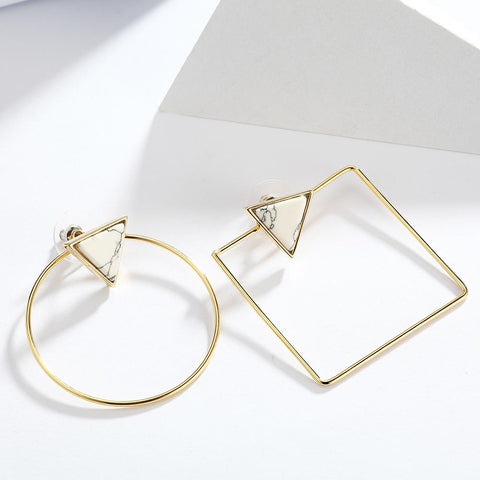 Viennois Gold Geometric Earrings