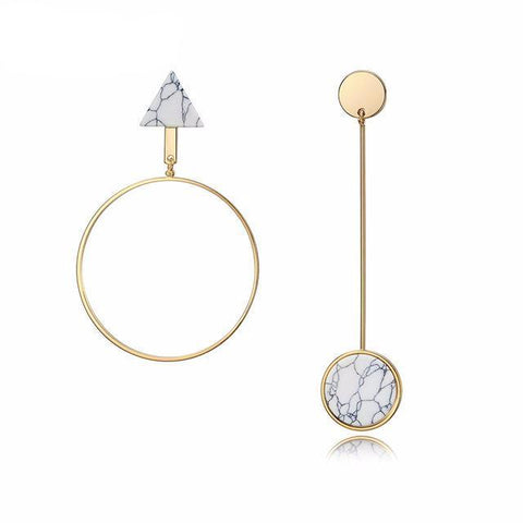 Viennois Light Gold Asymmetric Dangle Earrings