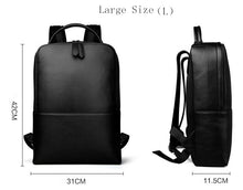 Black Minimal Leather Backpack