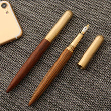 High Quality vintage Fountain Pen Rosewood and Brass Pen, , Gifts for Designers, Clean minimal gifts for designers and creatives, gift, design, designer - Gifts for Designers, Gifts for Architects