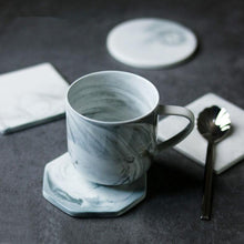 Marble Pattern Ceramic Cup Coaster, , Gifts for Designers, Clean minimal gifts for designers and creatives, gift, design, designer - Gifts for Designers, Gifts for Architects