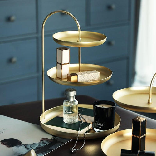 Brass Desk Tray Organizer
