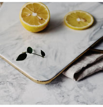 Gold Rim Marble Cutting Board, , Gifts for Designers, Clean minimal gifts for designers and creatives, gift, design, designer - Gifts for Designers, Gifts for Architects