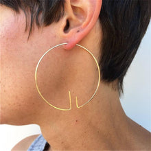 Handmade Minimalist Hoop Earrings, , Gifts for Designers, Clean minimal gifts for designers and creatives, gift, design, designer - Gifts for Designers, Gifts for Architects