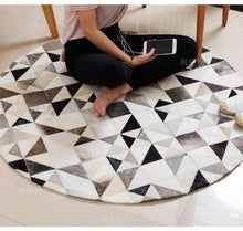 Handmade Spotted Triangles Cowhide Rug