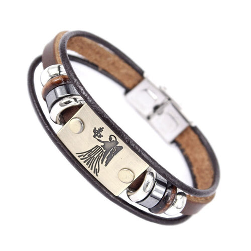 Zodiac Leather Bracelets