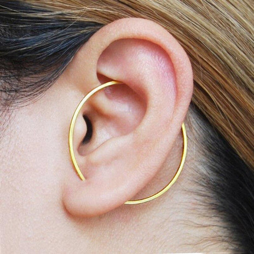 Minimalist Incomplete Circle Earring, , Gifts for Designers, Clean minimal gifts for designers and creatives, gift, design, designer - Gifts for Designers, Gifts for Architects