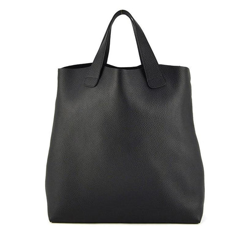 Genuine Soft Leather Tote Handbag, , Gifts for Designers, Clean minimal gifts for designers and creatives, gift, design, designer - Gifts for Designers, Gifts for Architects