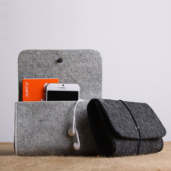 Felt Mouse Charger USB Cable Storage Bag, , Gifts for Designers, Clean minimal gifts for designers and creatives, gift, design, designer - Gifts for Designers, Gifts for Architects