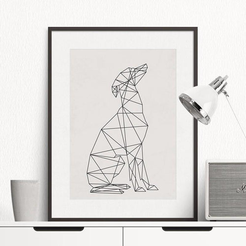 Minimal Greyhound Wall Art, , Gifts for Designers, Clean minimal gifts for designers and creatives, gift, design, designer - Gifts for Designers, Gifts for Architects