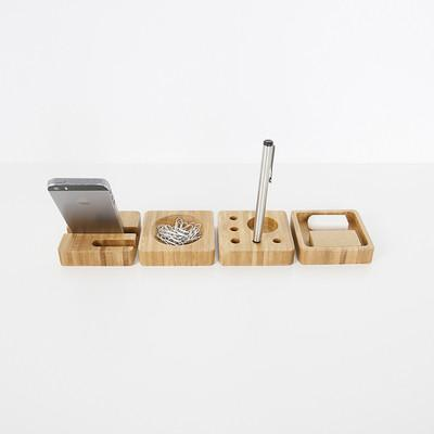 Bamboo Office Desk Organizer, , Gifts for Designers, Clean minimal gifts for designers and creatives, gift, design, designer - Gifts for Designers, Gifts for Architects