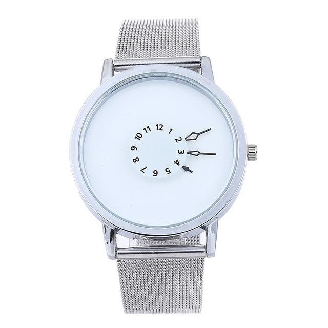 Minimal Metal Band Wristwatch, , Gifts for Designers, Clean minimal gifts for designers and creatives, gift, design, designer - Gifts for Designers, Gifts for Architects