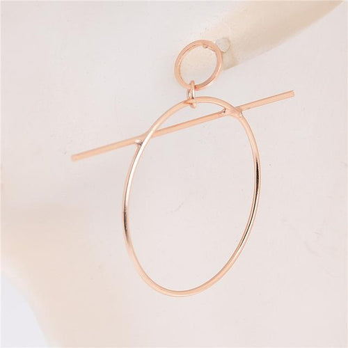 Geometric Hoop and Bar Earrings, , Gifts for Designers, Clean minimal gifts for designers and creatives, gift, design, designer - Gifts for Designers, Gifts for Architects