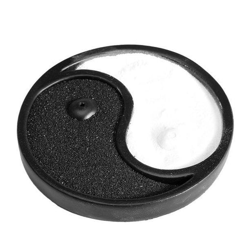 Zen Feng Shui Yin Yang Black White Sand Incense Holder, , Gifts for Designers, Clean minimal gifts for designers and creatives, gift, design, designer - Gifts for Designers, Gifts for Architects