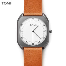 Simple Minimal Men's Quartz Watch with Leather Strap, , Gifts for Designers, Clean minimal gifts for designers and creatives, gift, design, designer - Gifts for Designers, Gifts for Architects