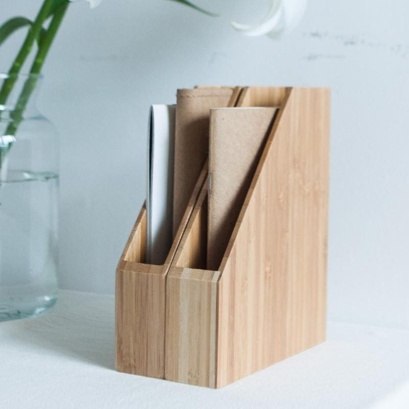 Creative Bamboo Office File Rack Organizer for A4/A5/A6 Paper, , Gifts for Designers, Clean minimal gifts for designers and creatives, gift, design, designer - Gifts for Designers, Gifts for Architects