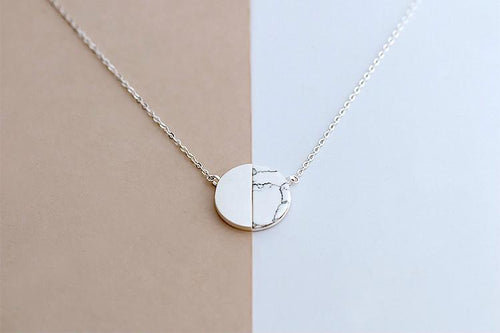 Round Marble Necklace, , Gifts for Designers, Clean minimal gifts for designers and creatives, gift, design, designer - Gifts for Designers, Gifts for Architects