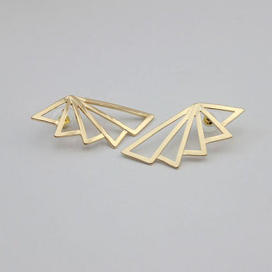 Golden Triangle Fan Shaped Earrings, , Gifts for Designers, Clean minimal gifts for designers and creatives, gift, design, designer - Gifts for Designers, Gifts for Architects