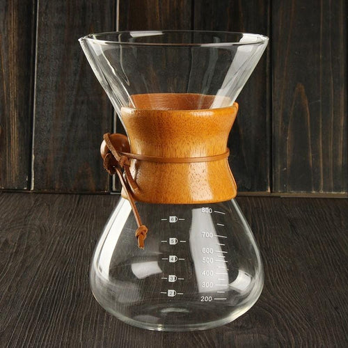 6 Cups Classic Glass Pour Over Coffeemaker, , Gifts for Designers, Clean minimal gifts for designers and creatives, gift, design, designer - Gifts for Designers, Gifts for Architects