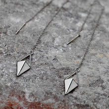 Minimalist Rhombus Geometric Pendant Earrings, , Gifts for Designers, Clean minimal gifts for designers and creatives, gift, design, designer - Gifts for Designers, Gifts for Architects