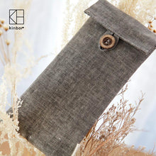 190*90mm Muji Style Vintage Flax Gray Pencil Bags, , Gifts for Designers, Clean minimal gifts for designers and creatives, gift, design, designer - Gifts for Designers, Gifts for Architects