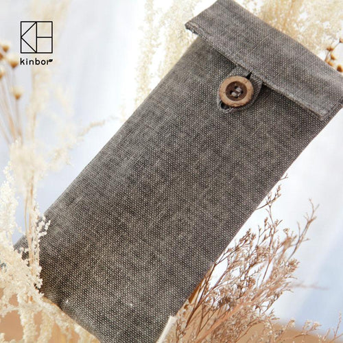 190*90mm Muji Style Vintage Flax Gray Pencil Bags, , Clean minimal gifts for designers and creatives, gift, design, designer - Gifts for Designers, 100+ Awesome Holiday Gifts for Designers