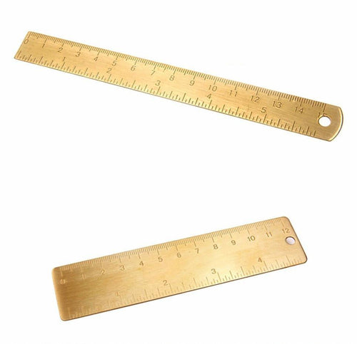 High quality Vintage 12cm Brass Ruler Metal, , Gifts for Designers, Clean minimal gifts for designers and creatives, gift, design, designer - Gifts for Designers, Gifts for Architects