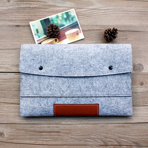 11,13,15,17 inch Wool Felt Hand Hold Notebook Laptop Sleeve, , Clean minimal gifts for designers and creatives, gift, design, designer - Gifts for Designers, 100+ Awesome Holiday Gifts for Designers