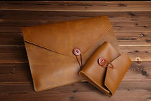 Genuine Leather Laptop Sleeve and Accessory Pouch, , Gifts for Designers, Clean minimal gifts for designers and creatives, gift, design, designer - Gifts for Designers, Gifts for Architects