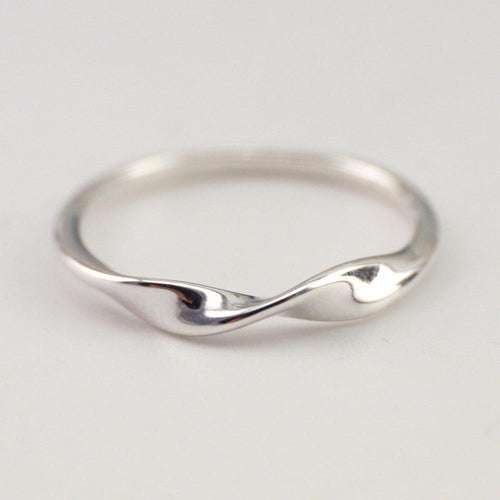 Sterling Silver Simple Twisted Knuckle Ring