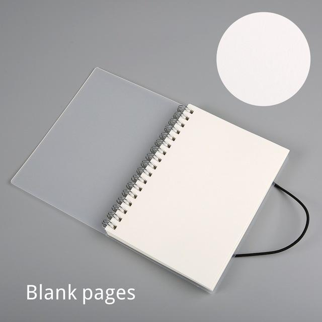 a5 a6 spiral book coil notebook to do lined dot blank grid paper