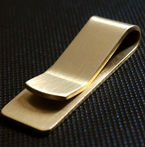 Brass Money Clip, Money Clip, Clean minimal gifts for designers and creatives, gift, design, designer - Gifts for Designers