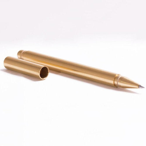 Milled Brass Pen, , Clean minimal gifts for designers and creatives, gift, design, designer - Gifts for Designers